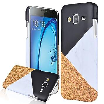 Samsung J3 2015/2016 Carcasa , We Love Case Cover Plástico PC Tapa Dura Funda Estilo Simple Moda Diseño Mármol Patrón Funda Cubierta para Samsung ...