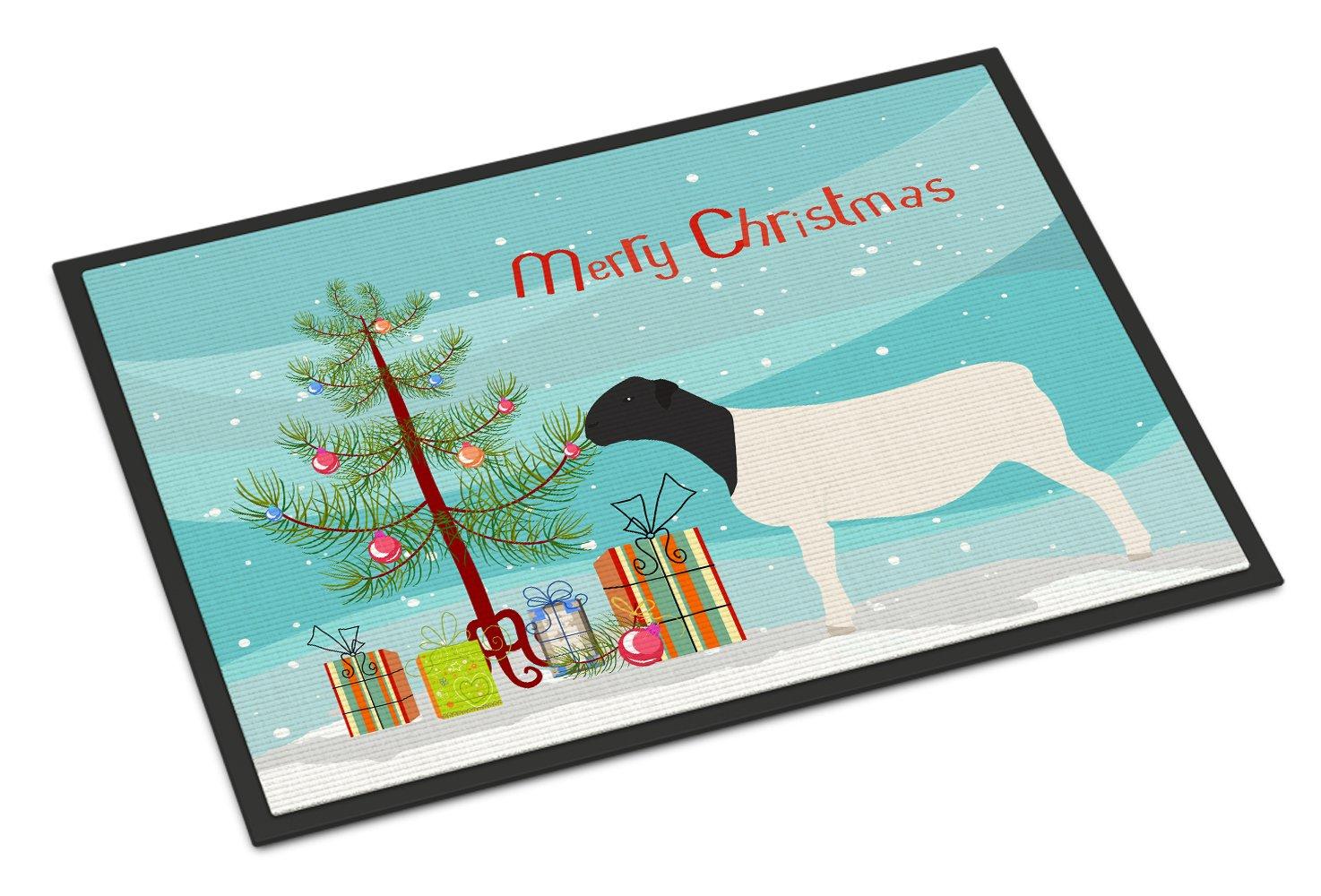 Carolines TreasuresFrisian Friesian Chicken Christmas Doormat 24 x 36 Multicolor