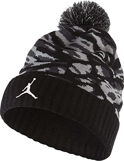 87966eebf Jordan Boy`s Winter Cuffed Beanie with Pom