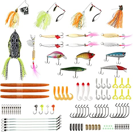 Runcl - Juego de cebos de pesca, con crankbaits, señuelos spinning ...
