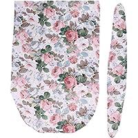 T TOOYFUL Get Baby Cotton Swaddling Blanket Swaddle Sleeing Bag Headband Set - Style 1, as described