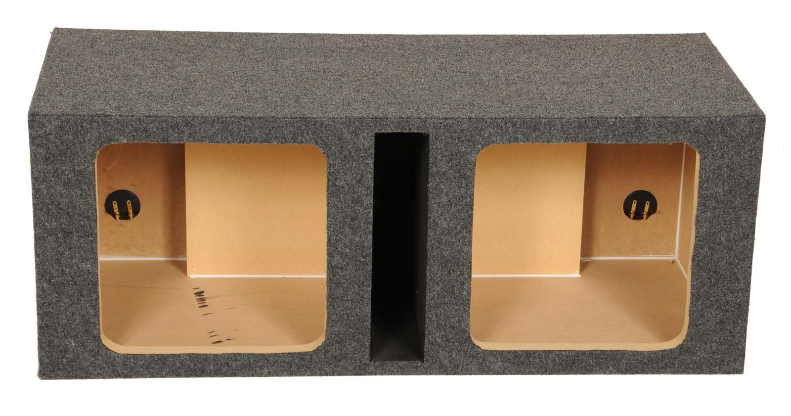 Q Power HD212 VENT SQ Dual 12-Inch Vented Custom Speaker Box for Kicker L7 Subwoofer