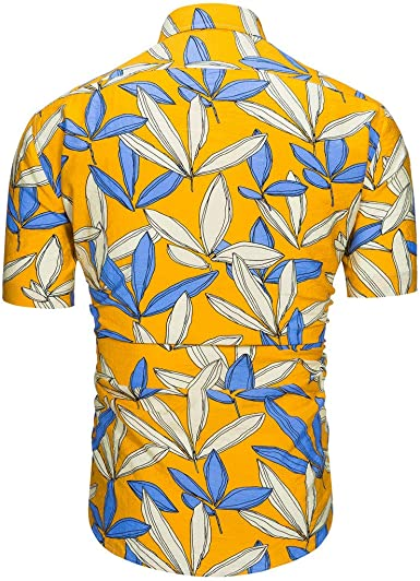MOTOCO Camisa Hawaiana con Estampado de Moda de Hombre: Amazon.es ...