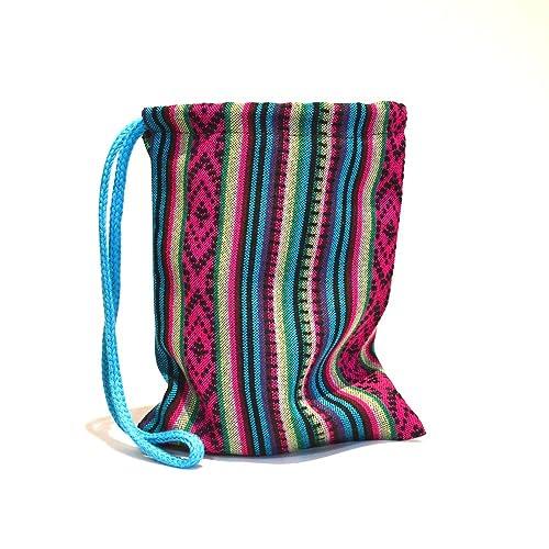 Bolsa tela aguayo artesanal etnico boho hecho a mano andino originario Argentina