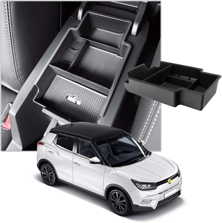 CDEFG para Tivoli Caja de almacenamiento Con Tapete Antideslizante Accesorios Interiores del coche Consola Central Apoyabrazos Caja del coche Interior Center Armrest Storage Box