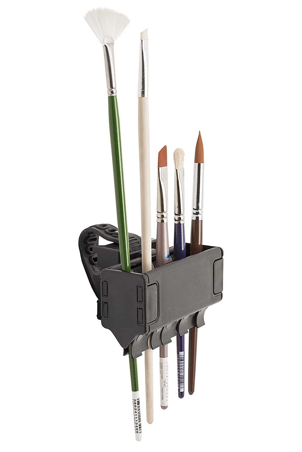 Brush Grip Brush Holder by Easy to Use Products, Holds Up to 8 Brushes (ETU-305),Black C2F