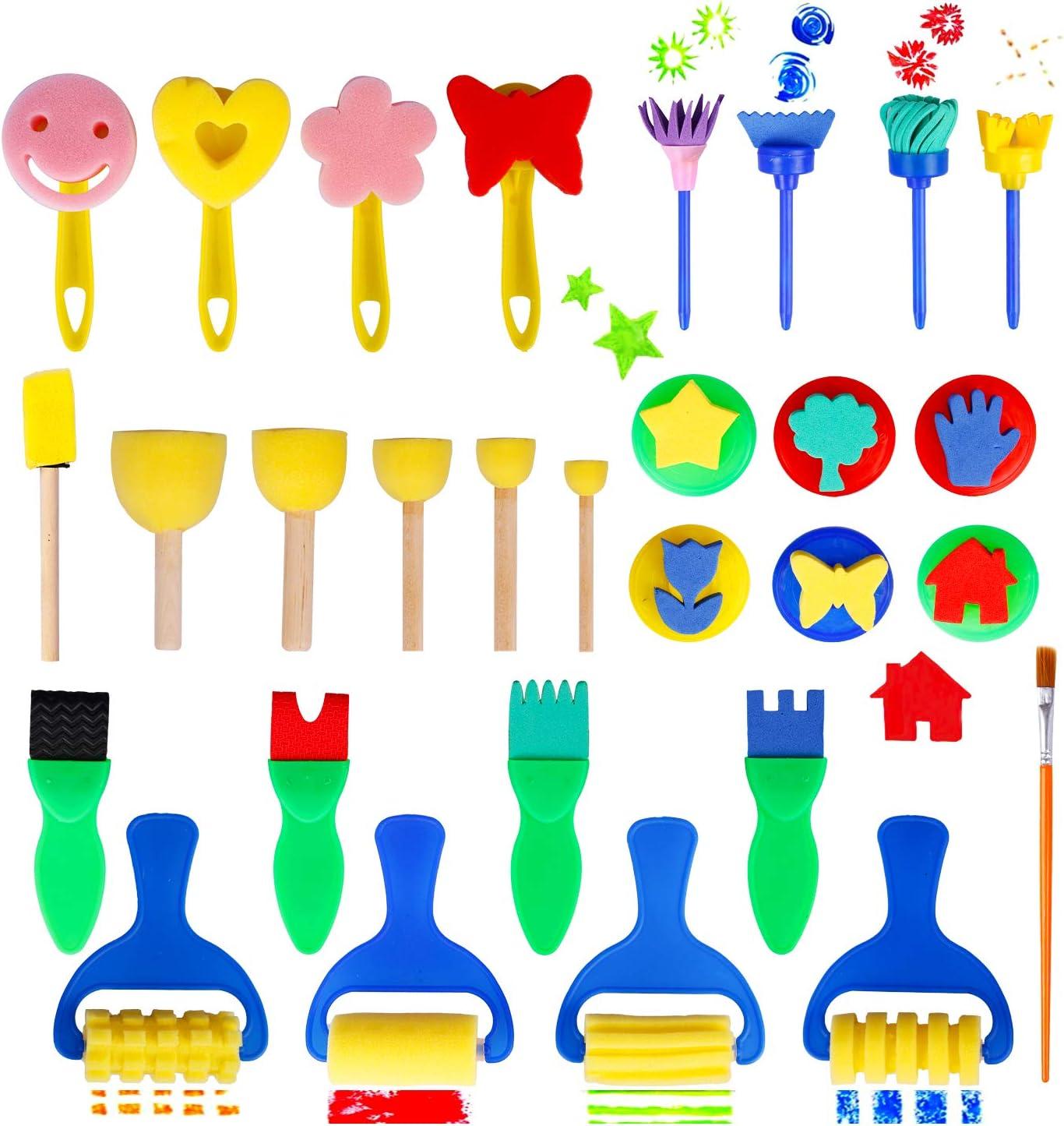 10Pcs//set Children/'s Finger Painting Graffiti sponge Painting Art Tools Gifts