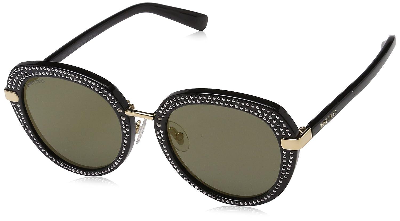 Jimmy Choo Mori/S K1 2M2 52 Gafas de Sol, Negro (Black GD Gold), Mujer