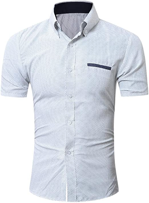 Tee Shirts hombre, Sonnena verano o cuello camisa de manga corta occasionnels reflectores mezcla algodón estilo de negocios formal blusa M-XXL: Amazon.es: Instrumentos musicales