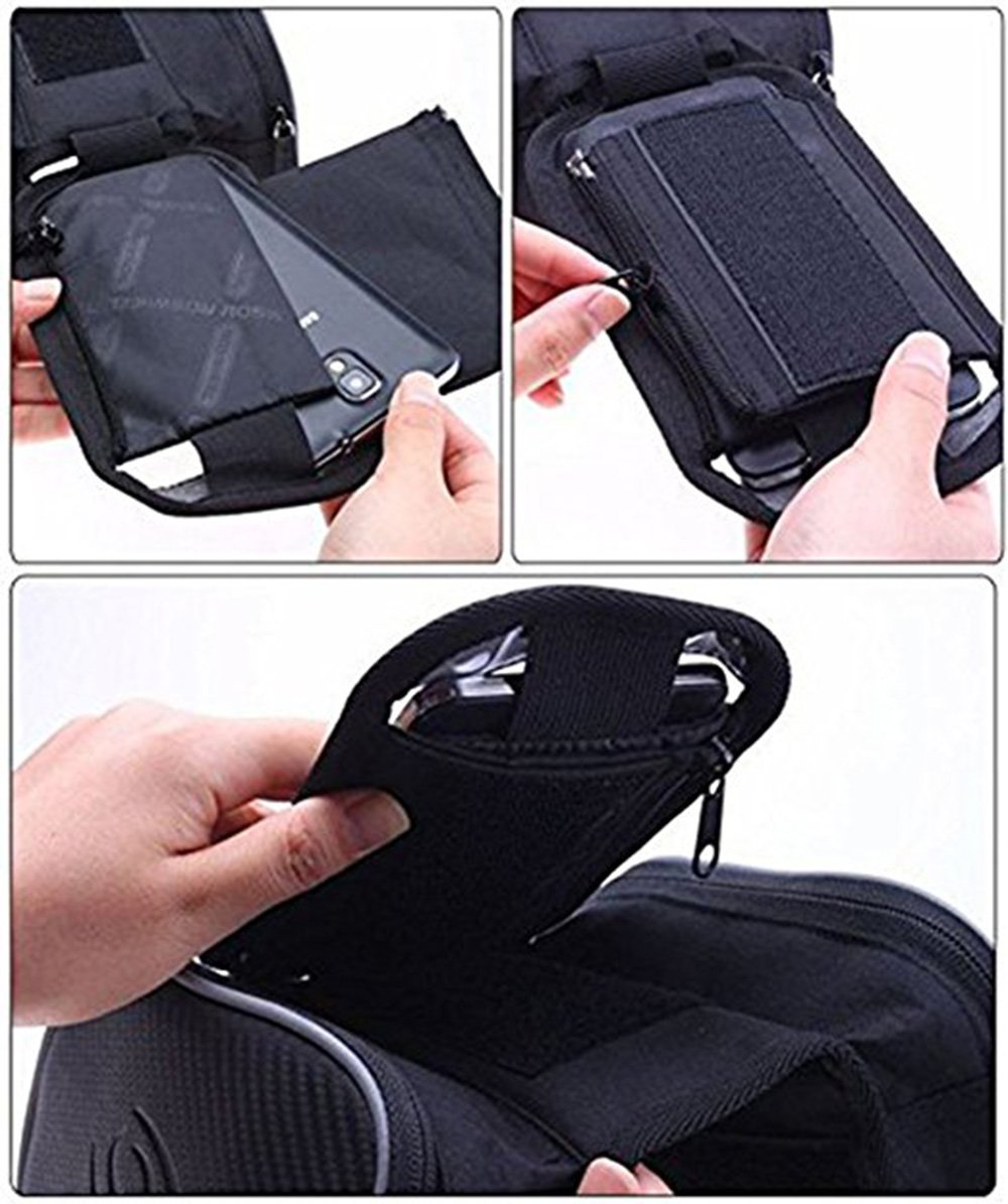 Bilateral Bundle Waterproof Bike Storage Bag Saddle Bag on The Front Beam Mobile Phone Holder /≤ 5.7 Screen By Kolodo Bicycle Handlebar Phone Bag