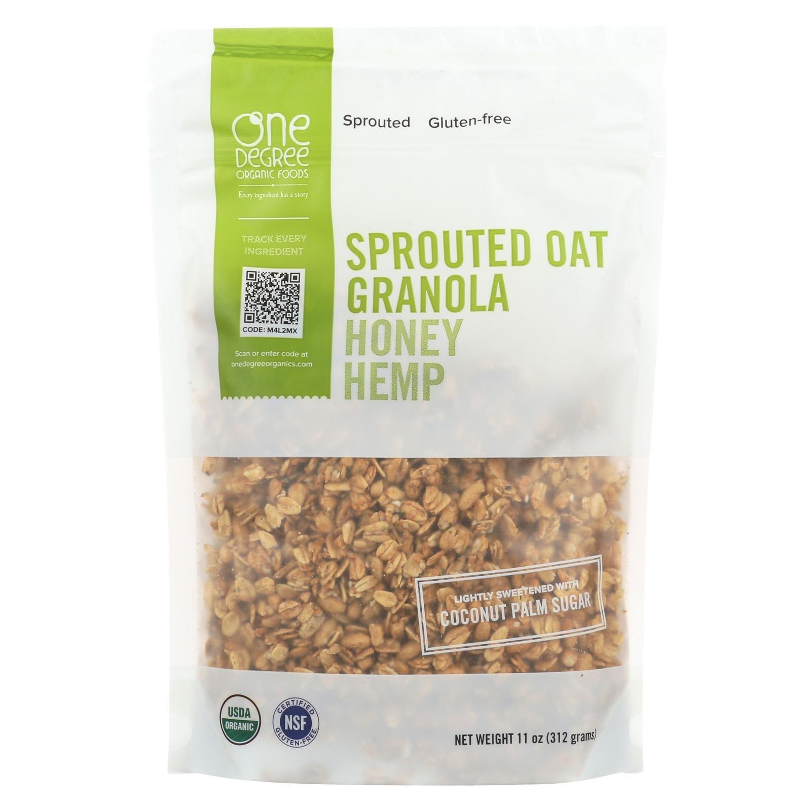 One Degree Granola Honey Hemp, 11 oz