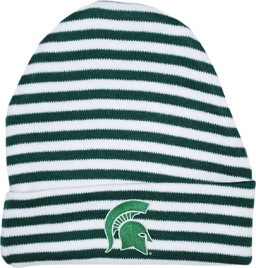 Two Feet Ahead NCAA Michigan State Spartans Infant Knit Cap Green New Born