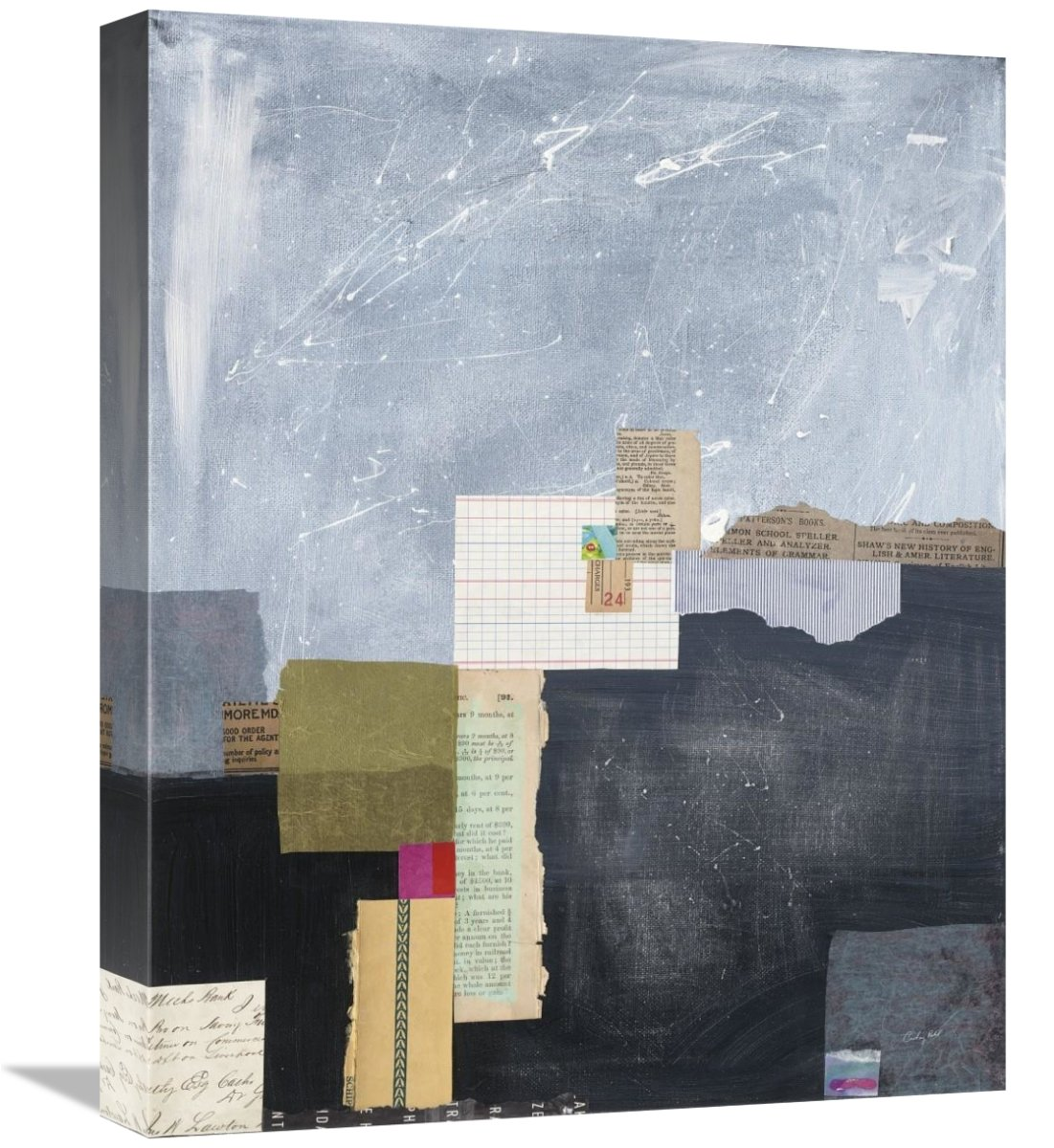 Global Gallery Courtney Prahl Block Abstract I V2 Giclee Stretched Canvas Artwork 16 X 20