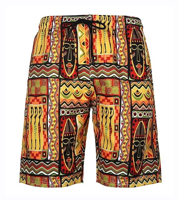 LAUSONS Shorts de baño Hombres 3D bañador Largo Hombre Playa ...