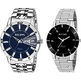BigOwl Men and Women Combo of Couple Blue Analogue Wrist Watch