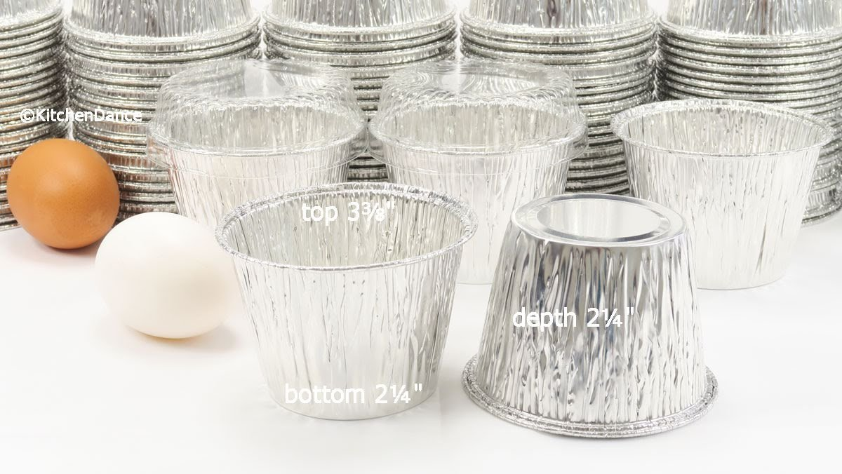 Disposable Aluminum 7 oz. Baking Cups/Cake Cups/Dessert Cups #1210P (50) by AGIANT (Image #2)