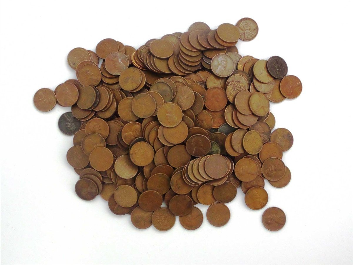 1 Various Mint Marks - Wheat Pennies by the Pound - 1 Pound Collection Circulated 71LqHL9EKIL