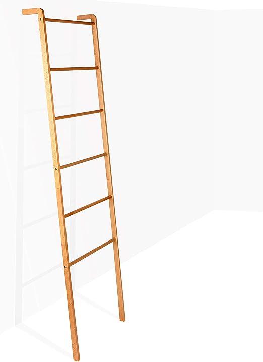 Brightech – Escalera Decorativa Mila – Accesorio de Metal y Madera Resistente para Interiores y Exteriores, jardín, Porche, Patio, Madera Natural: Amazon.es: Juguetes y juegos