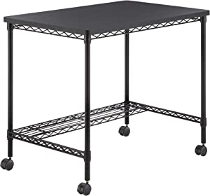 Safco Products Home Office Computer Wire Desk, Steel Frame, Black