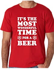 Funnwear Wonderful Time for A Beer, Funny Parody Christmas Premium Men's T-Shirt