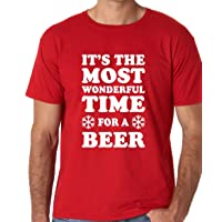 Funnwear It's The Most Wonderful Time for A Beer, Funny Parody Christmas Novelty...
