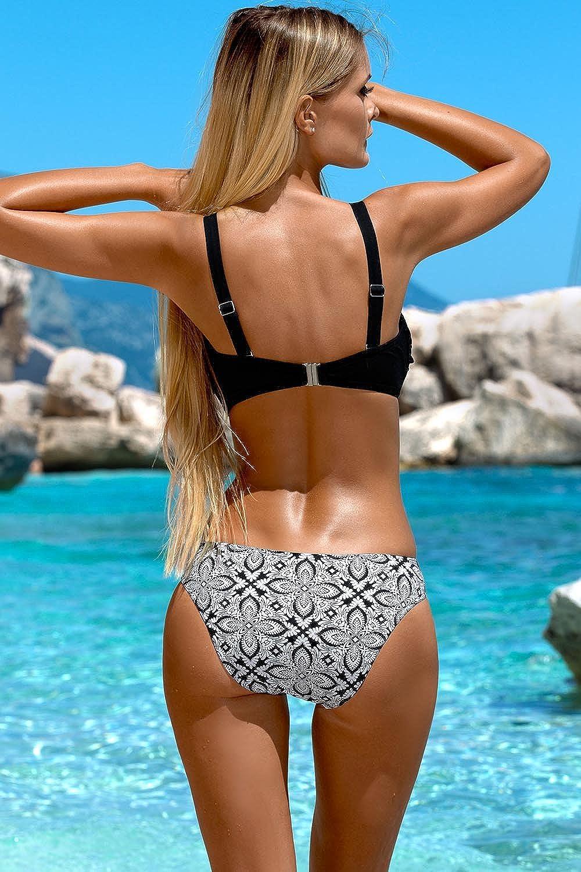 6d4430d982df50 Lorin L2134/7 Bikini Set Dame Bademode Versteift Gemustert Abnehmbar EU:  Amazon.de: Bekleidung