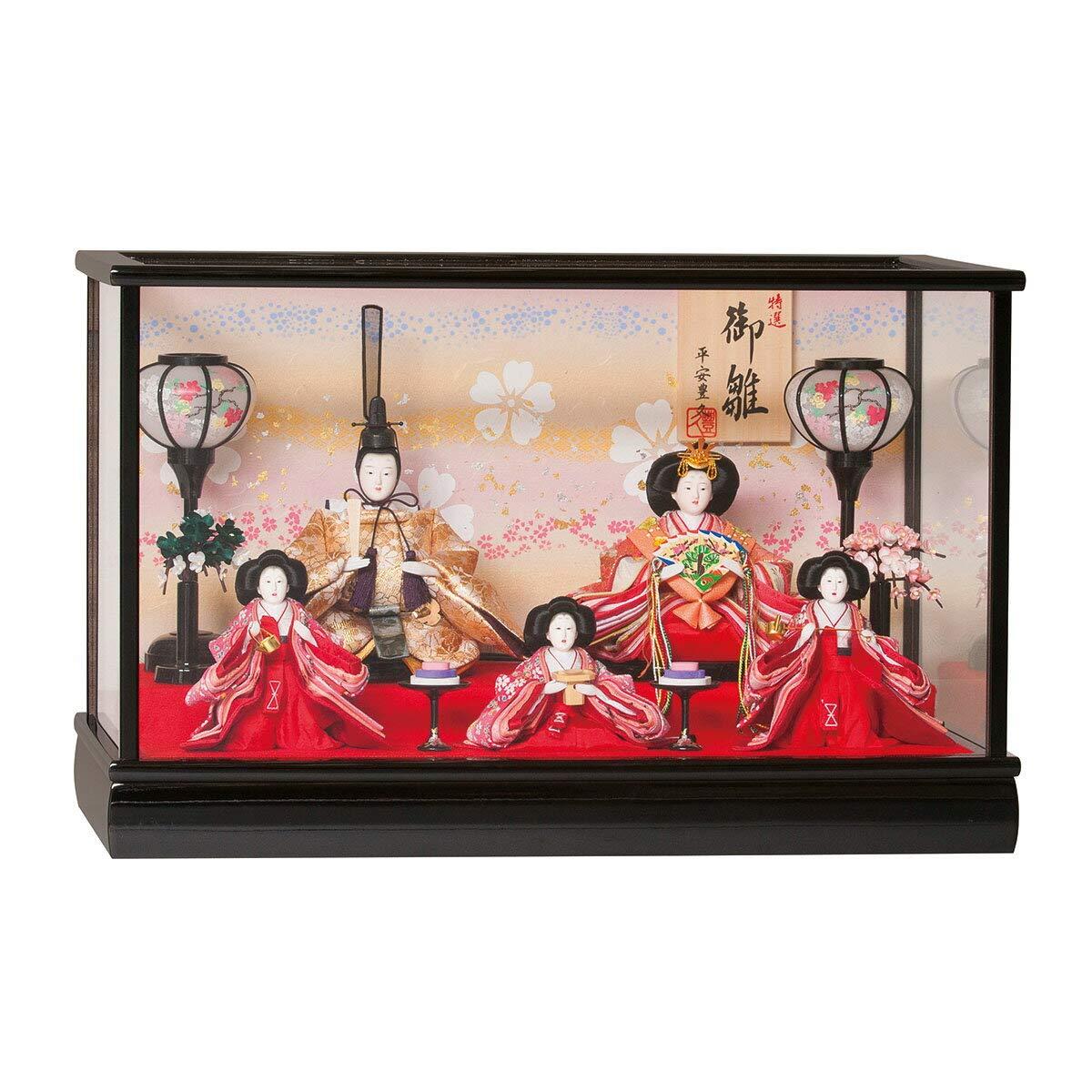 雛人形 柚希 小三五五人 ケース飾り ひな人形 ケース飾り 平安豊久 HNH-333477 HD-167   B07KCZBXQQ