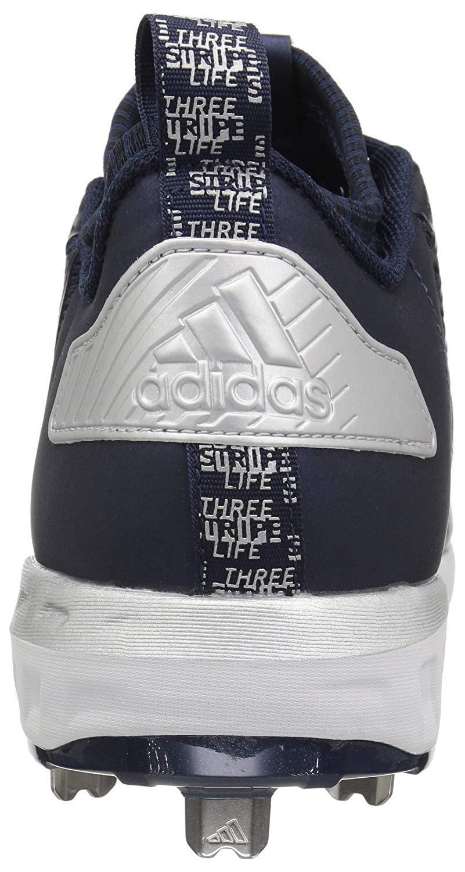 adidas Men's Freak X Carbon Mid Baseball Shoe, Collegiate Navy/White/Metallic Silver, 7.5 Medium US by adidas (Image #3)