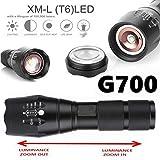 Mini Flashlight, Rcool 2000 Lumens G700 Tactical LED Military Lumitact Alonefire Torch