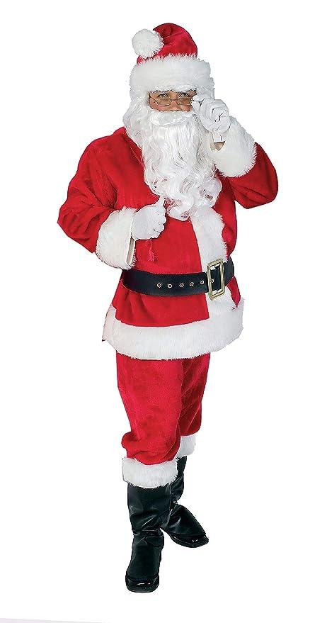 0260518c57ba3 Rubie s Official Regal Santa Suit Plush Father Christmas Costume - Standard  One size  Amazon.co.uk  Toys   Games