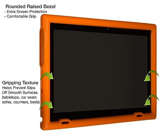BobjGear Carcasa Resistente para Tablet Lenovo Miix 320 - Bobj Funda Protectora (Naranja)