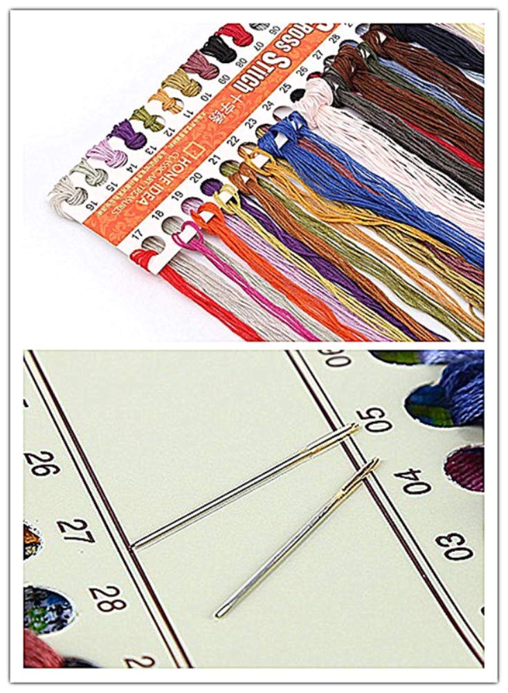 Stamped 11CT Three Butterflies CaptainCrafts New Stamped Cross Stitch Kits Preprinted Pattern Counted Embroidery Starter Kits for Beginner Kids and Adults