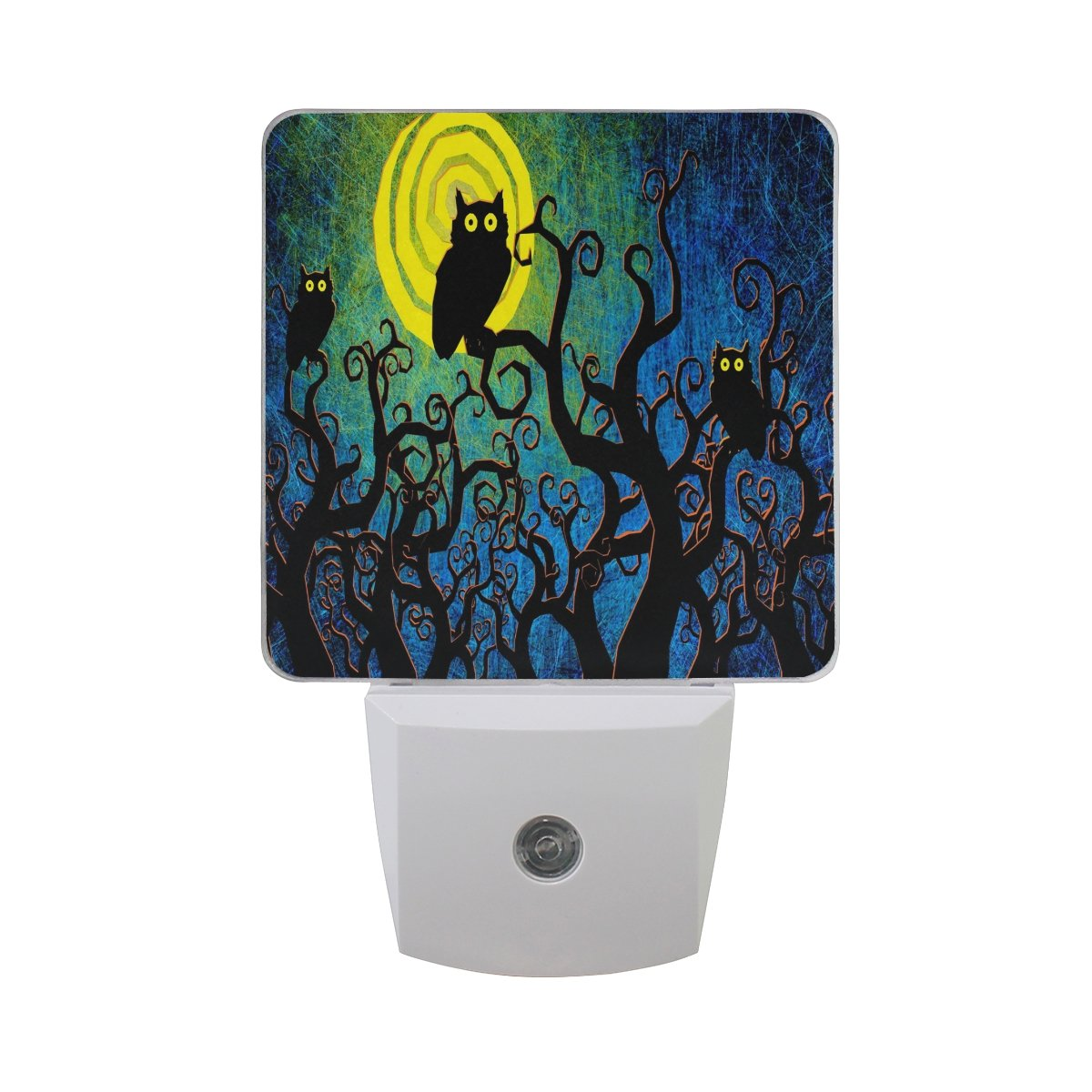 Alaza Halloween Night Owl Owlet Branch Tree Painting LED Night Light Dusk to Dawnセンサープラグin Night Home Decorデスクランプfor Adult B07BFD7GZ1 13554