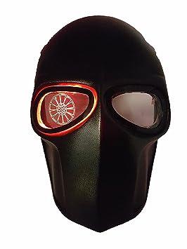 LED máscara de Airsoft ejército de dos protectora Gear deportes al aire libre Fancy Party máscaras