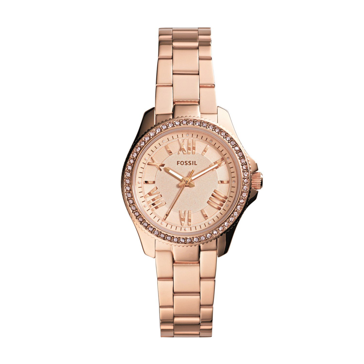 d3e88b893aed Amazon.com  Fossil Women s AM4578 Cecile Small Rose Gold-Tone Stainless  Steel Watch  Fossil  Watches