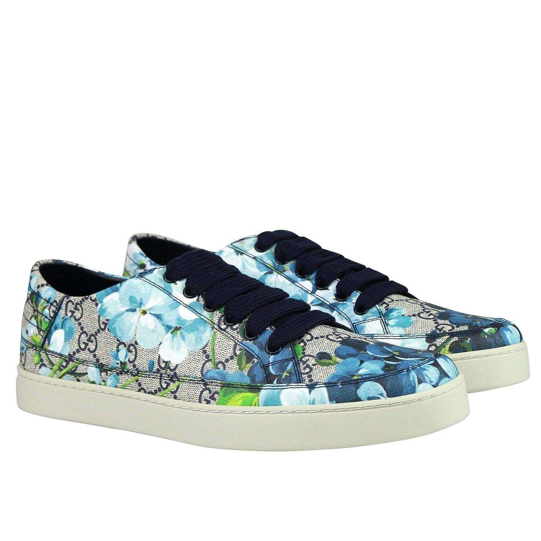 cb17d4086d Amazon.com  Gucci Bloom Flower Print Blue Supreme GG Canvas Sneaker Shoes  407343 8470  Shoes