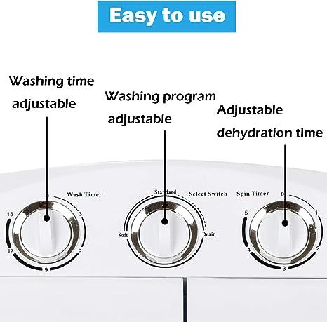 32 Cm * 34 Cm * 66 Cm Dawoo 4.4Kg Tragbare Mini-Waschmaschine Vollautomatische Einzelwannenwaschmaschine Mit Ablaufpumpe Und Zeitschaltuhr