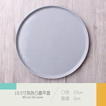 """Cubertería Swing Set_retro disco de cerámica plano japonés mesa de restaurante, la 8,5"""""""