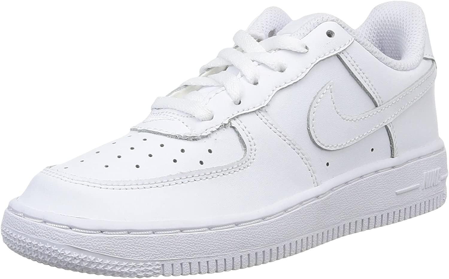 B001U5ERU8 Nike [314193-117] AIR Force 1 PS PRE-School Shoes White/White 71LqPTPTYRL.UL1500_