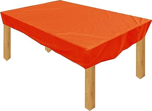 KaufPirat Premium Funda para Muebles de Jardín 150x110x15 cm Cubierta Impermeable Funda para Mesa para Mobiliario de Exterior Naranja: Amazon.es: Jardín