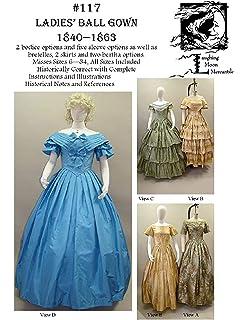 acef6b8795bc1 Sewing Pattern Laughing Moon 117 - LM 117 : 1840-1863 Ladies Civil War Era