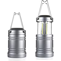 2-Pack Miuree Camping Lantern Military TacLight Lantern with Magnetic Base & Collapsible