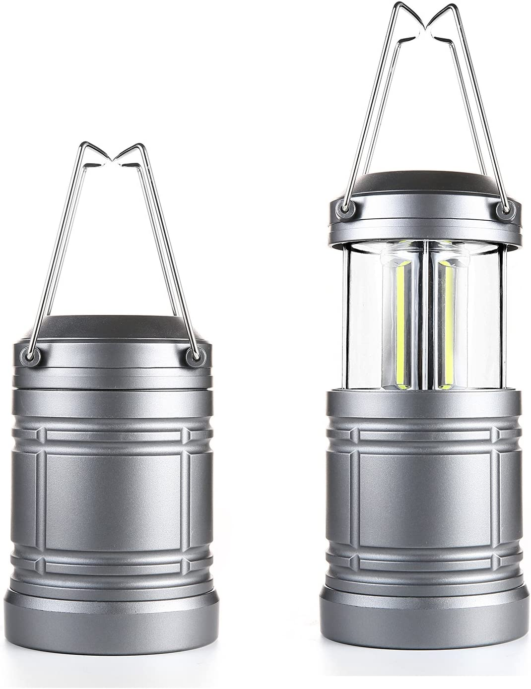 2 Pack Camping Lantern with Magnetic Base – 500 Lumens Collapsible Ultra Bright Portable LED Lantern for Emergency, Hurricane, Storms, Outage