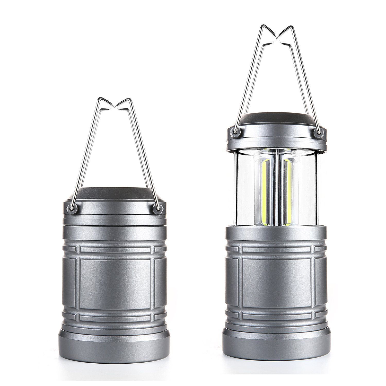 2Pcs Camping Lantern Military TacLight Lantern with Magnetic Base & Collapsible Ultra Bright Portable LED Torch by Miuree