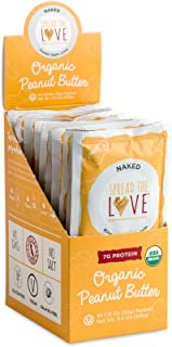 product image for Spread The Love NAKED Organic Peanut Butter (Organic, All Natural, Vegan, Gluten-free, Creamy, Dry-Roasted, No added salt, No added sugar, No palm oil) (10-Pack)