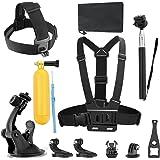 Efluky 8-en-1 cámara de la acción Kit de accesorios para GoPro héroe Sesión / 5 héroe 1 2 3 4 5 3+ SJ4000 5000 6000