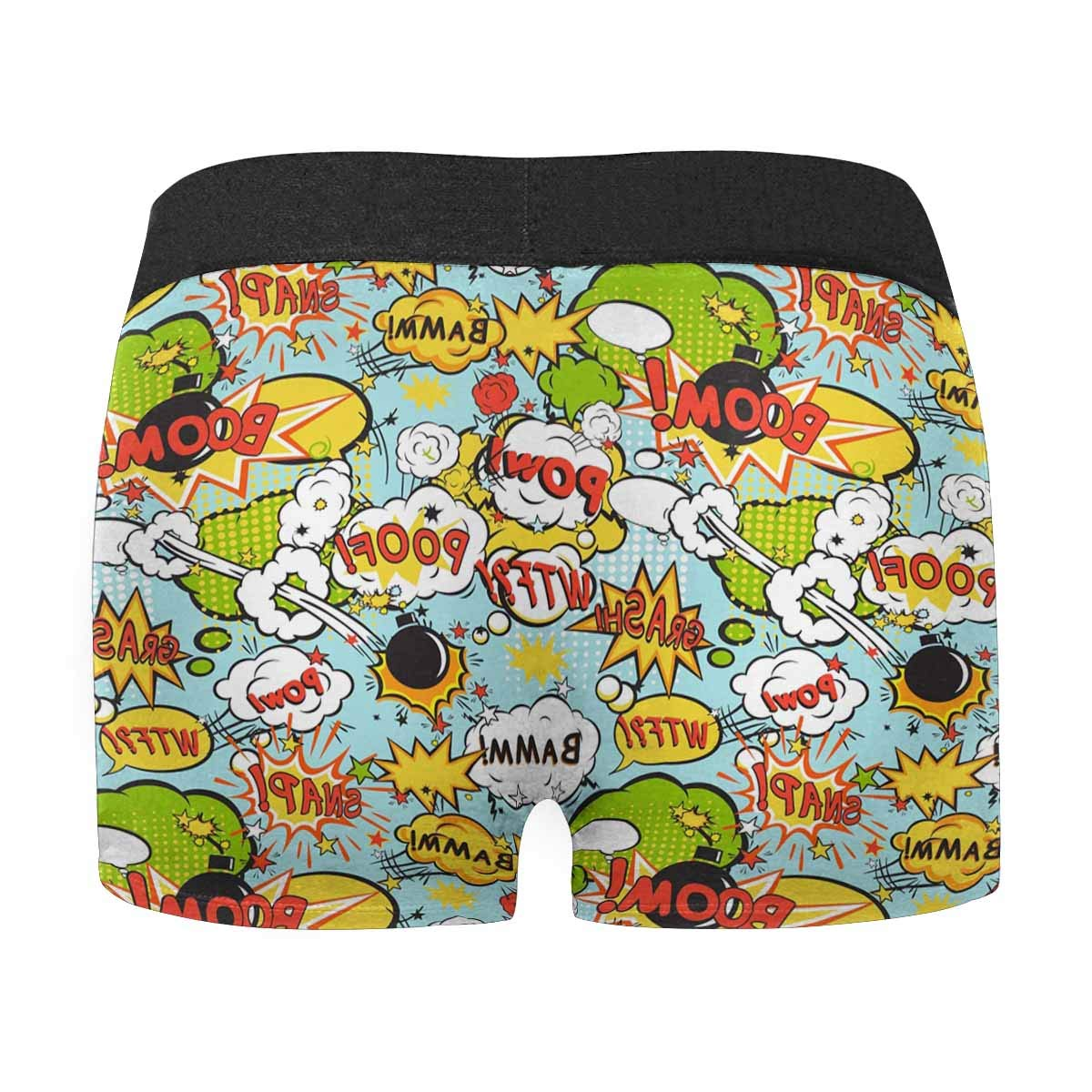 XS-3XL INTERESTPRINT Boxer Briefs Mens Underwear Comic Book Speech Bubbles