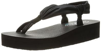 Skechers Cali Women's Vinyasa d-Loop Wedge Sandal, Black, 5 B(M