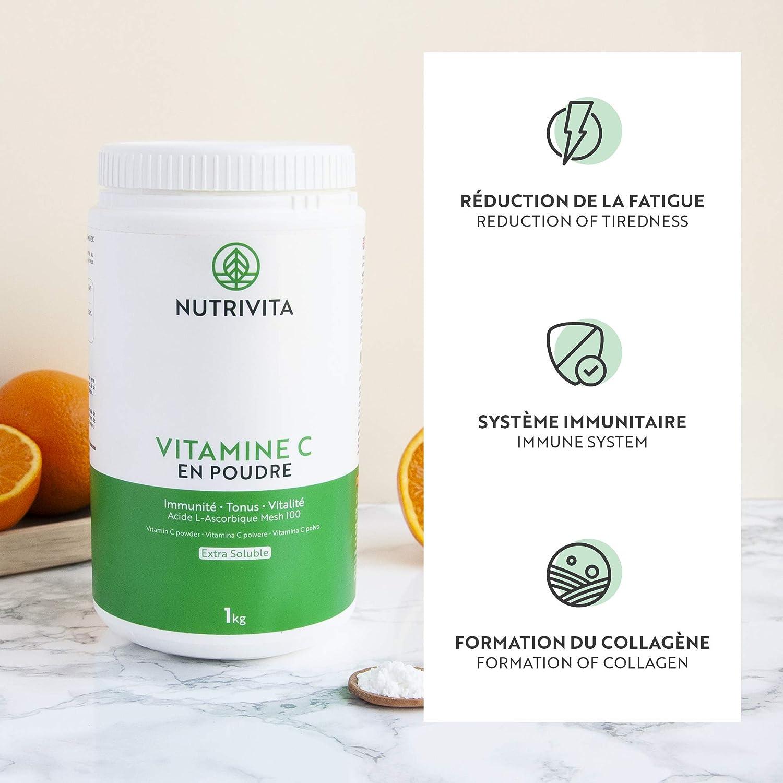 Acido Ascorbico Puro 100/% vegetariano Vitamina C Mono in polvere • 240 g