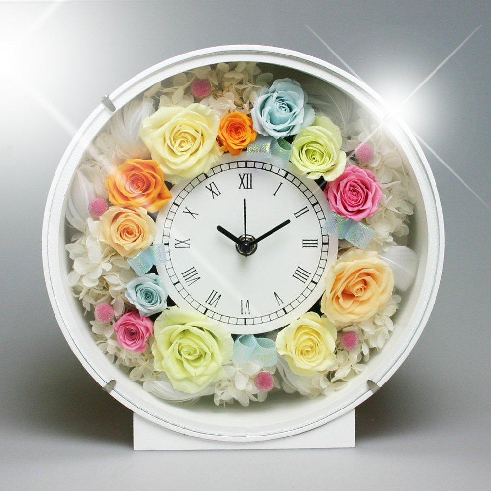 PRECIOUS FLOWER プリザーブドフラワー お花の時計 PSYH-01203 パステル B004VSMBUO  パステル